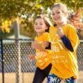 Girls running at Girls on the Run fall season practice in Charlotte