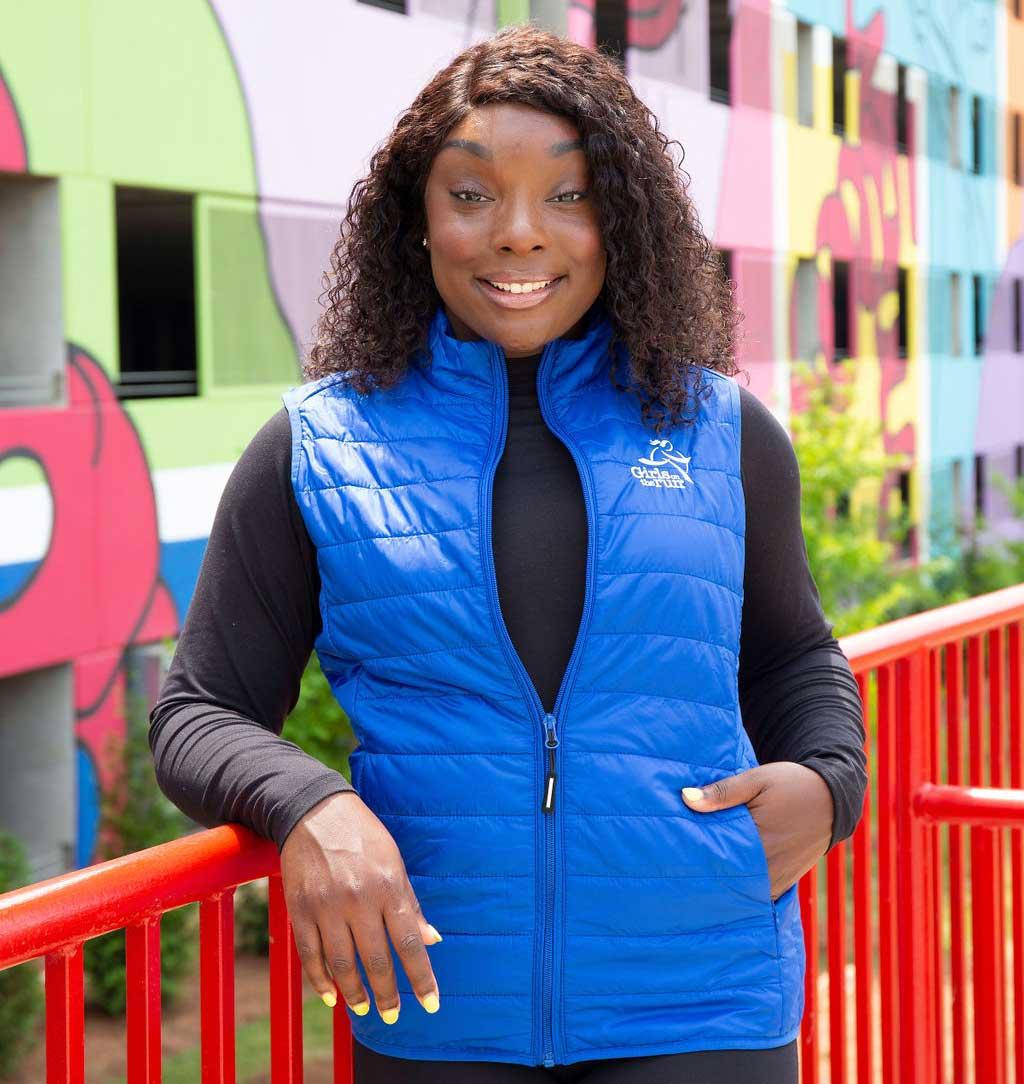 woman wearing a vest